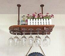 Massivholz Bar Rack Glas, Weingestell, hängende