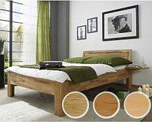 Massivholz-Bett Caro 200x200 cm Wildeiche natur