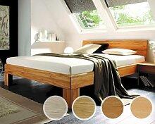 Massivholz-Bett System 1020 120x200 cm / Kernbuche