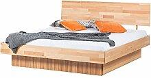 Massivholz Bettgestell 180x200 cm Doppelbett Ehebett Schubladen Bett Kernbuche