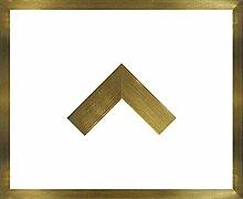 Massivholz-Bilderrahmen Jersey 33 x 120 cm. Gold