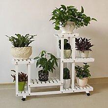 Massivholz Blume Racks Multi-stöckige Decke BLUMENTOPF REGAL, D