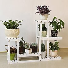 Massivholz Blume Racks Multi-stöckige Decke BLUMENTOPF REGAL E
