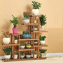 Massivholz-Blumen-Rack / Wohnzimmer, Balkon mehrstöckige hölzerne Pflanze Rack / Bonsai-Rahmen / Boden-Stil indoor Blume Regal ( stil : No wheel type )