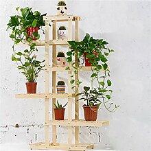 Massivholz-Blumen-Racks Balkon Mehrere Schichten Hölzerne Bonsai-Blumen-Regal-Wohnzimmer Indoor-DIY-Montage ( farbe : #2 )
