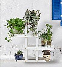 Massivholz-Blumen-Racks Mehrere Ebenen Blumen-Racks Bonsai Holz-Blumen-Regal Balkon Wohnzimmer Indoor-DIY-Montage ( farbe : #2 )