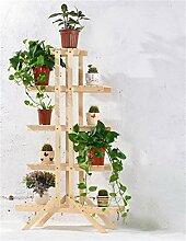 Massivholz-Blumen-Racks Mehrere Ebenen Blumen-Racks Bonsai Holz-Blumen-Regal Balkon Wohnzimmer Indoor-DIY-Montage ( farbe : #10 )