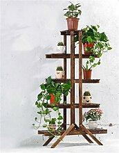 Massivholz-Blumen-Racks Mehrere Ebenen Blumen-Racks Bonsai Holz-Blumen-Regal Balkon Wohnzimmer Indoor-DIY-Montage ( farbe : #9 )
