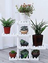Massivholz Blumenregal Balkon Indoor Multilayer Blumentopf Blumenregal Regal Topfpflanzen Blumenregal ( farbe : 2# , größe : B )
