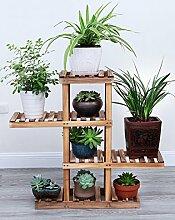 Massivholz Blumenregal Balkon Indoor Multilayer Blumentopf Blumenregal Regal Topfpflanzen Blumenregal ( farbe : 1# , größe : B )