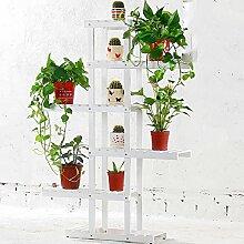 Massivholz Blumenregal / Balkon mehrstöckigen Holzboden-Stil Bonsai Blume Regal / Wohnzimmer Indoor-Anlage Rack ( Farbe : C )