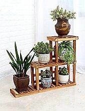 Massivholz Blumenregal Drei Schicht Leiter Holz Blumenregale Balkon Blumentopf Bonsai Regale