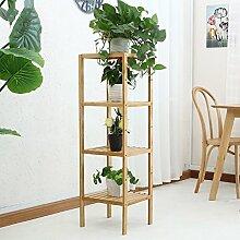 Massivholz Blumenregal mehrstöckige Boden Töpfe Regal Balkon Wohnzimmer Interieur Blume Regal kreative Bonsai Regal ( Farbe : B )