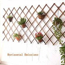Massivholz Blumenregal / Wanddekoration Pflanze Rack, Verdickung Material, kann direkt mit Töpfen verbunden werden, geeignet für Kletterpflanzen ( größe : 180*32cm )