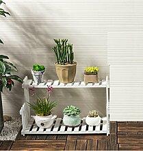 Massivholz Blumenständer Wohnzimmer Balkon Boden Mehrgeschossige Blumentöpfe Innen Einfache Fleisch Pflanze Regale ( größe : 30*21*22cm )