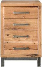 Massivholz Brest Kommode mit 4 Schubladen