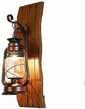 Massivholz Bügeleisen Petroleumlampe Creative