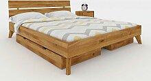 Massivholz Doppelbett aus Wildeiche geölt