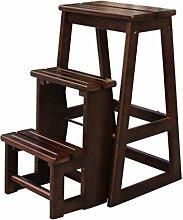 Massivholz Dual-use Step Hocker Braun