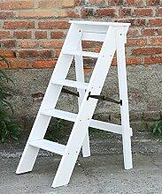 Massivholz Faltende Leiter Startseite Multifunktions-Fünf Schichten Blumenständer Leiter Woody Aufstieg Die Leiter ( Farbe : 2# , größe : 38*50*88cm )