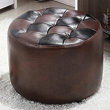 Massivholz für Schuhhocker Sofa Hocker Tragen Sie einen Hocker Einfacher moderner runder Stuhl Schlafzimmer Make-up Hocker Sofa Hocker (Farbe wahlweise freigestellt) ( farbe : # 4 )