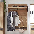 Massivholz Garderobe aus Wildeiche gewachst und