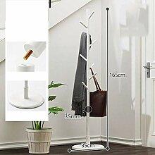 Massivholz Garderobe,Hut und Kleiderständer mit 9