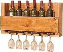 Massivholz Hängende Weinflasche Rack Modern