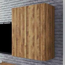 Massivholz Hängeschrank aus Wildeiche geölt 80 cm