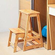 Massivholz Haushalt Multi-Purpose Leiter Hocker kreative Treppe Hocker Indoor Klettern Leiter Zwei-Stufen-Leiter Stuhl