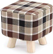 Massivholz Haushalt Stuhl / kreatives Wohnzimmer für Schuh Hocker / Mode Platz Hocker / Tuch Bank ( Farbe : Braun )