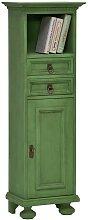 Massivholz Hochkommode in Grün Vintage Design