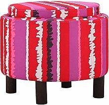 Massivholz-Hocker / Couchtisch Hocker / Stoff Montage Hocker / Einfache Tablett Hocker / Zwerg weichen Kissen / Storage Hocker (3 Farben erhältlich) (49 * 37cm) ( farbe : C )
