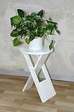Massivholz Hocker Klapphocker weiß antik Blumenhocker Nachttisch Beistelltisch