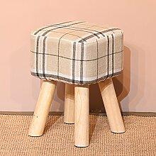 Massivholz home kreative Mode Wohnzimmer wechselnden Schuh Hocker / Mode Kommode Hocker / Stoff kleine Bank ( stil : B )