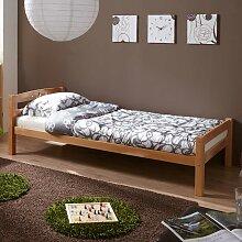 Massivholz Jugendbett aus Buche Bettkasten