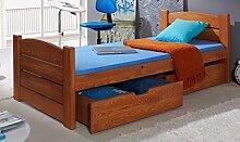 Massivholz Kiefer Bett 190x80 Erle Jugendbett