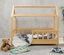 Massivholz Kinderbett mit Himmelaufbau in 3