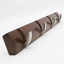 Massivholz Kleiderablage Creative Coat Rack, Solider Holzhänger Haken Einfacher Einstab Kleiderbügel ( Farbe : Retro Farbe , größe : 4 )