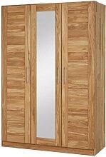 Massivholz Kleiderschrank aus Wildeiche Spiegel