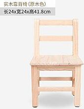 Massivholz kleine quadratische Hocker Hocker Hocker Kinder Mode kreativ Wäscheservice Hocker kleine Sitzbank Hocker Hocker, 24 * 24 * 21,8 cm
