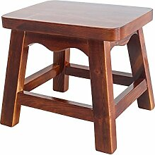 Massivholz kleiner Hocker / Wohnzimmer Innenhocker kleiner Hocker / Hocker / Holz Hocker