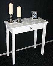 Massivholz Konsolentisch Wandtisch Beistelltisch Holz massiv weiß lackier