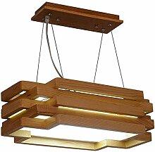 Massivholz-Kronleuchter, Postmoderne LED Glas Holz