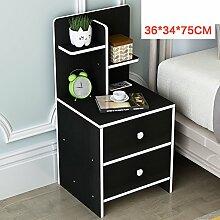 Massivholz lagerschrank Schlafsaal Schlafzimmer Montage bett kabinett Einfacher nachttisch Modernes einfaches bett kabinett Lagerschränke-V