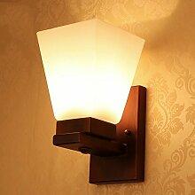 Massivholz Land Nachttischlampe Schlafzimmer
