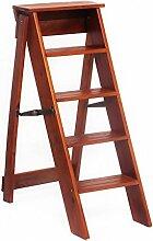 Massivholz Leiter Kreativ Multifunktional Haus Drinnen Klappleiter Fünf Schichten Die Leiter Hinaufsteigen ( Farbe : 2# )