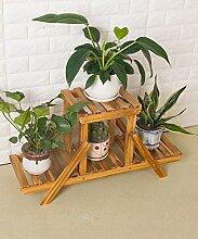 Massivholz Leiter Mehrstöckige Boden Pflanze Stand Blumentopf Regal Blume Rack Für Balkon Wohnzimmer Indoor ( größe : A )