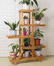 Massivholz Leiter Mehrstöckige Boden Pflanze Stand Blumentopf Regal Blume Rack Für Balkon Wohnzimmer Indoor ( größe : B )