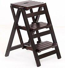 Massivholz Leiterstuhl Leiter Stuhl Home Kreativ Multifunktion Klappleiter Drinnen Leitern ( Farbe : 2# , größe : 42*55*66cm )